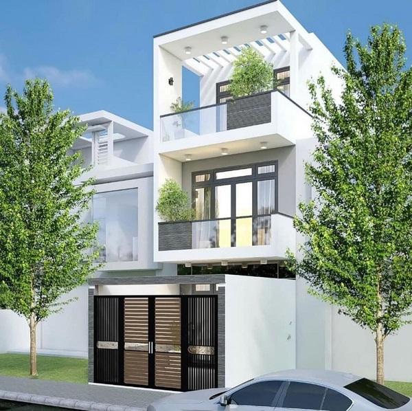 Mẫu nhà 1 trệt 2 lầu diện tích 4×12 hiện đại cho hộ gia đình